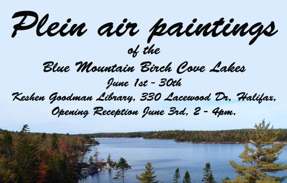 Plein Air Paintings of the Blue Mountain Birch Cove Lakes